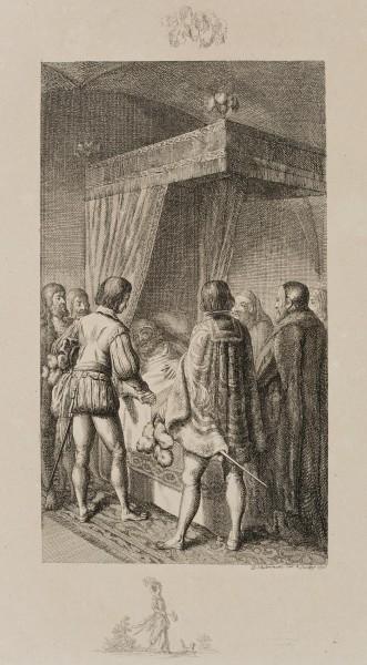Otto der Erlauchte auf dem Sterbebette