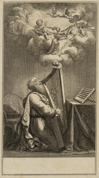 König David mit der Harfe musizierend