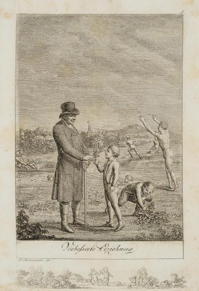 Ein Lehrer mit seinen Schülern am Fluss