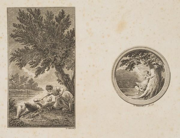 Illustrationen zu Sophie Albrecht's Gedichten, Probedruck