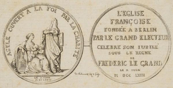 Medaille auf das Jubiläum der französischen Kirche zu Berlin